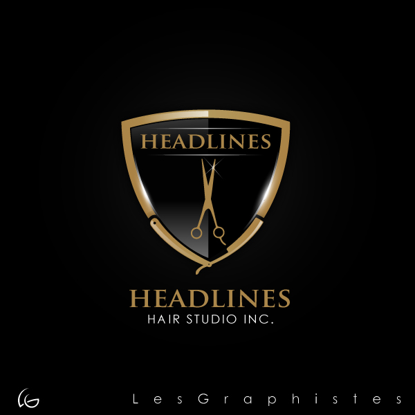 Logo Design by Les-Graphistes - Entry No. 43 in the Logo Design Contest Fun Logo Design for HEADLINES HAIR STUDIO INC.