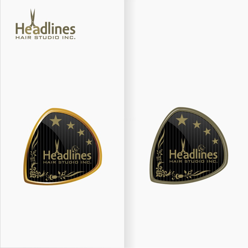 Logo Design by graphicleaf - Entry No. 47 in the Logo Design Contest Fun Logo Design for HEADLINES HAIR STUDIO INC.