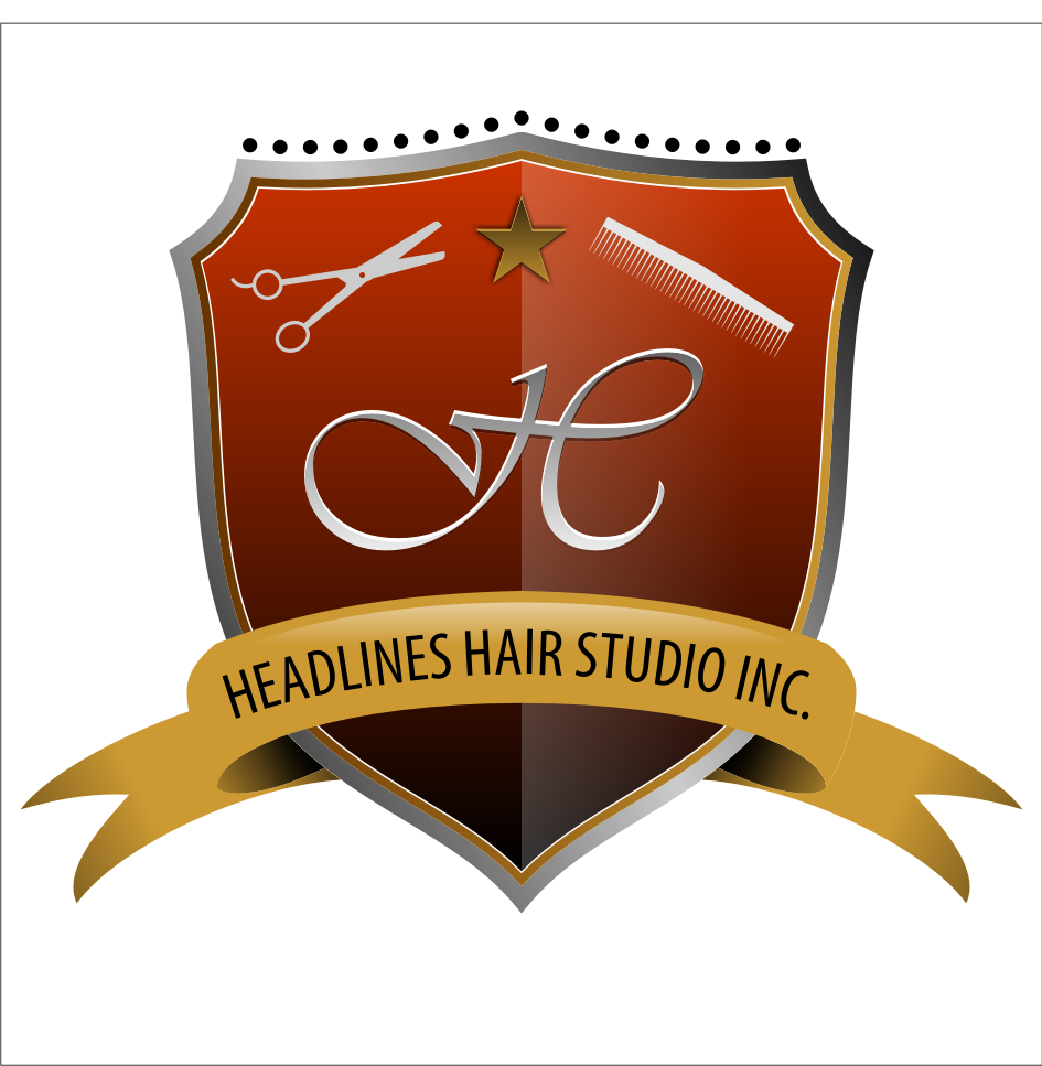 Logo Design by farrosloves - Entry No. 48 in the Logo Design Contest Fun Logo Design for HEADLINES HAIR STUDIO INC.
