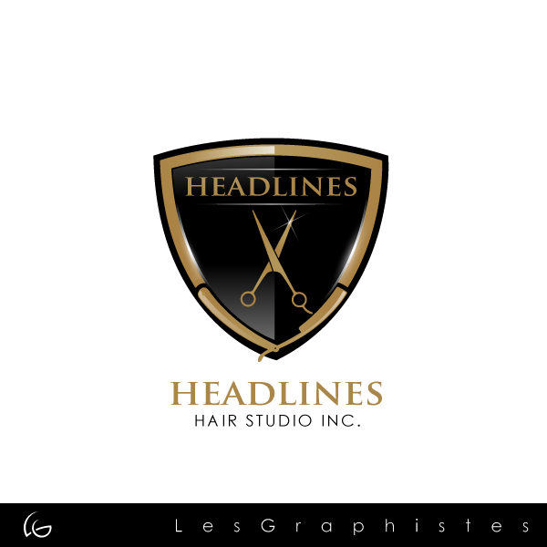 Logo Design by Les-Graphistes - Entry No. 50 in the Logo Design Contest Fun Logo Design for HEADLINES HAIR STUDIO INC.