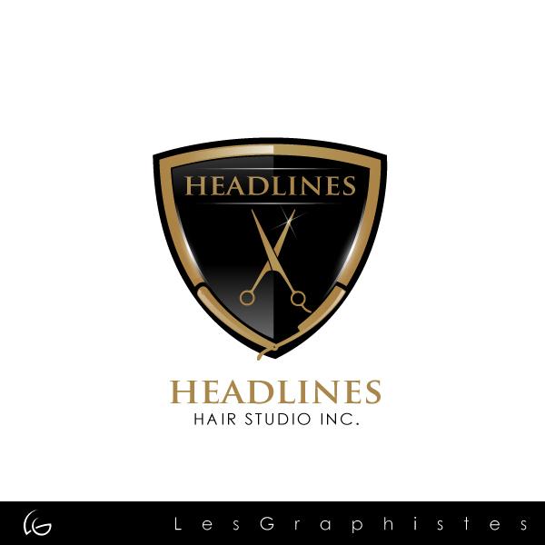 Logo Design by Les-Graphistes - Entry No. 50 in the Logo Design Contest Fun Logo Design for HEADLINES HAIR STUDIO INC.