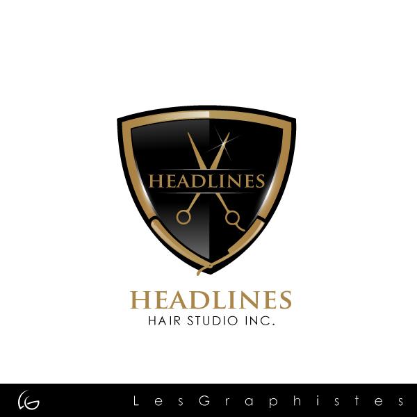 Logo Design by Les-Graphistes - Entry No. 51 in the Logo Design Contest Fun Logo Design for HEADLINES HAIR STUDIO INC.