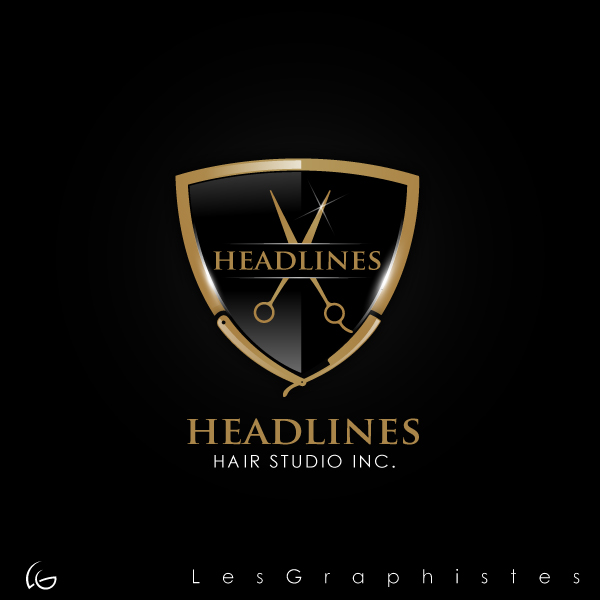 Logo Design by Les-Graphistes - Entry No. 53 in the Logo Design Contest Fun Logo Design for HEADLINES HAIR STUDIO INC.