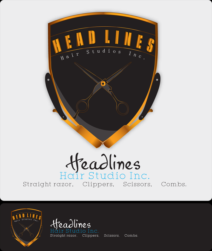 Logo Design by Md Iftekharul Islam Pavel - Entry No. 56 in the Logo Design Contest Fun Logo Design for HEADLINES HAIR STUDIO INC.