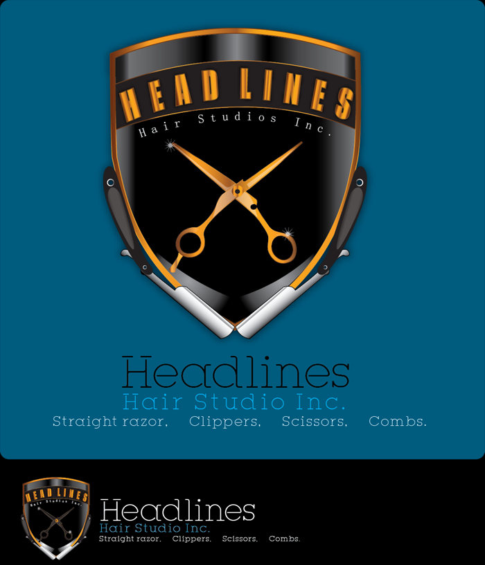 Logo Design by Md Iftekharul Islam Pavel - Entry No. 57 in the Logo Design Contest Fun Logo Design for HEADLINES HAIR STUDIO INC.