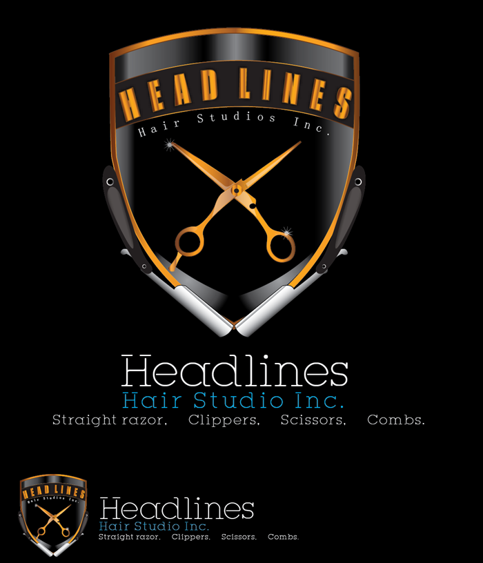 Logo Design by Md Iftekharul Islam Pavel - Entry No. 58 in the Logo Design Contest Fun Logo Design for HEADLINES HAIR STUDIO INC.