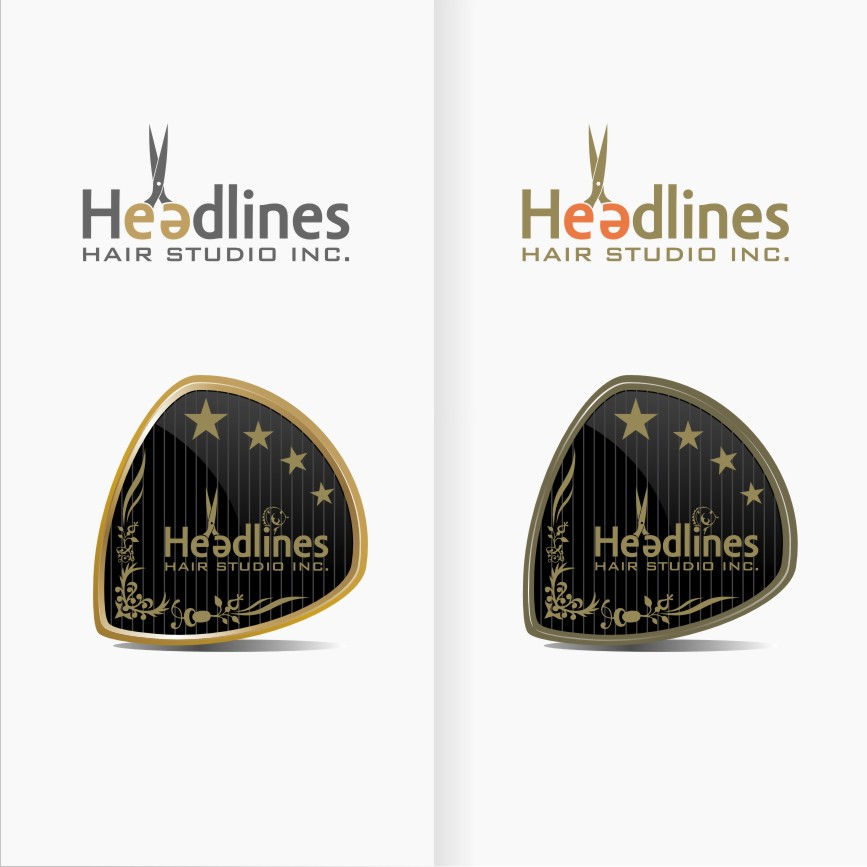 Logo Design by graphicleaf - Entry No. 62 in the Logo Design Contest Fun Logo Design for HEADLINES HAIR STUDIO INC.