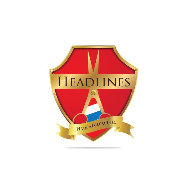 Logo Design by storm - Entry No. 64 in the Logo Design Contest Fun Logo Design for HEADLINES HAIR STUDIO INC.