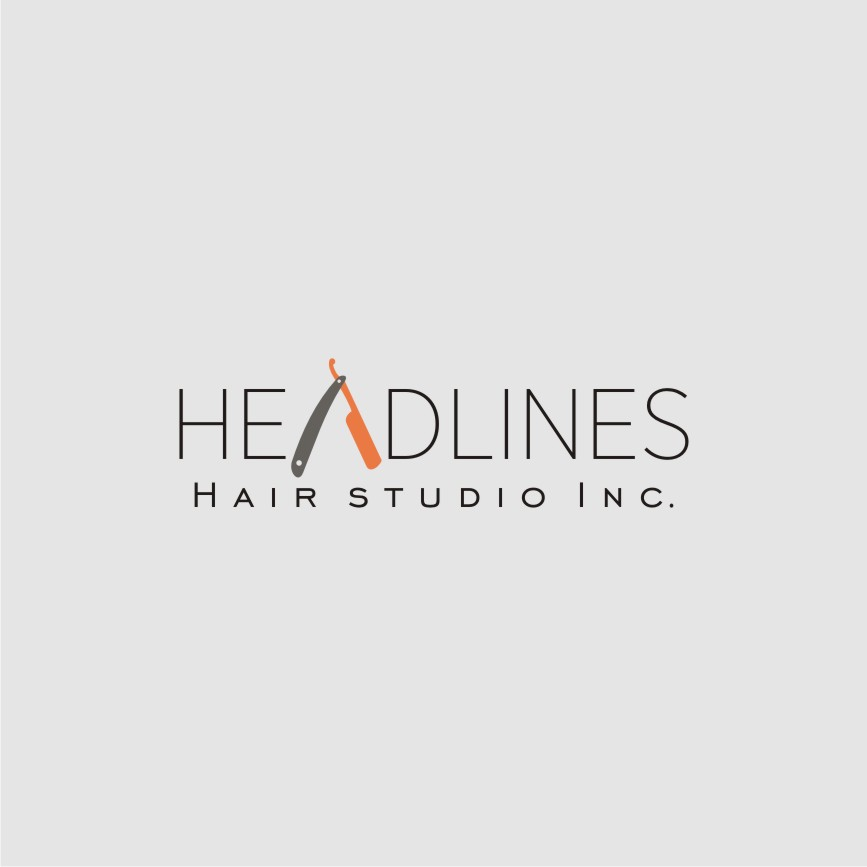 Logo Design by graphicleaf - Entry No. 65 in the Logo Design Contest Fun Logo Design for HEADLINES HAIR STUDIO INC.