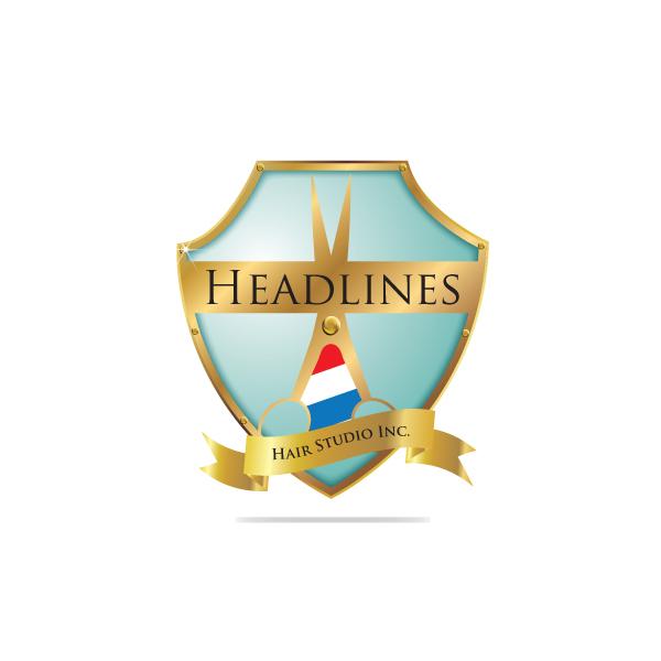 Logo Design by storm - Entry No. 66 in the Logo Design Contest Fun Logo Design for HEADLINES HAIR STUDIO INC.