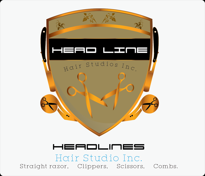 Logo Design by Md Iftekharul Islam Pavel - Entry No. 67 in the Logo Design Contest Fun Logo Design for HEADLINES HAIR STUDIO INC.