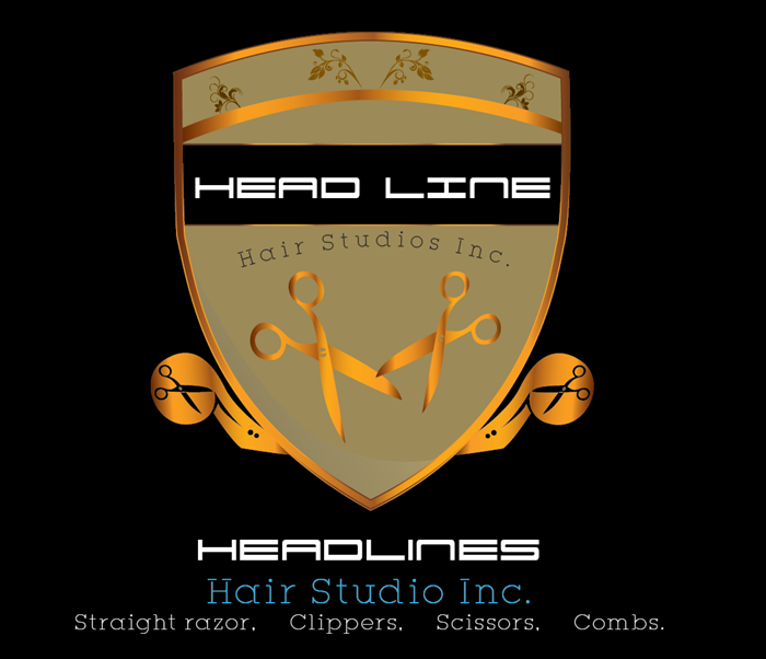 Logo Design by Md Iftekharul Islam Pavel - Entry No. 68 in the Logo Design Contest Fun Logo Design for HEADLINES HAIR STUDIO INC.