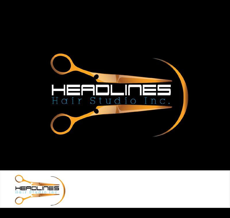 Logo Design by Md Iftekharul Islam Pavel - Entry No. 69 in the Logo Design Contest Fun Logo Design for HEADLINES HAIR STUDIO INC.