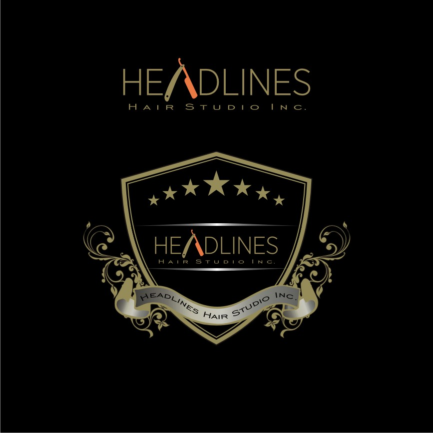 Logo Design by graphicleaf - Entry No. 70 in the Logo Design Contest Fun Logo Design for HEADLINES HAIR STUDIO INC.