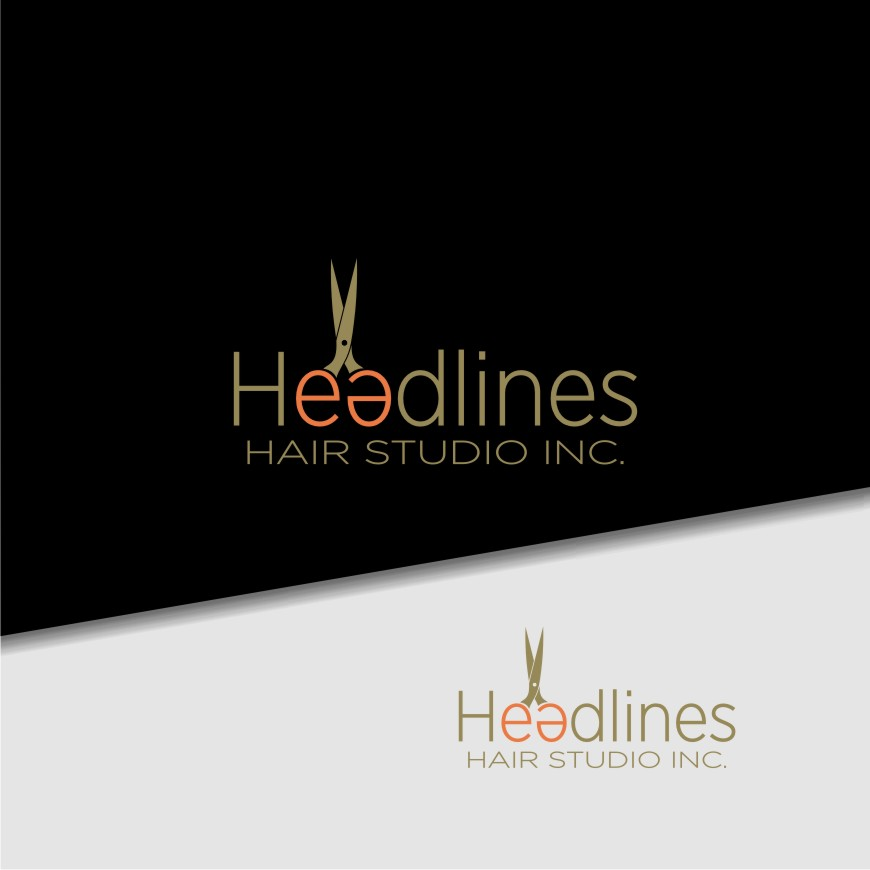 Logo Design by Muhammad Nasrul chasib - Entry No. 77 in the Logo Design Contest Fun Logo Design for HEADLINES HAIR STUDIO INC.