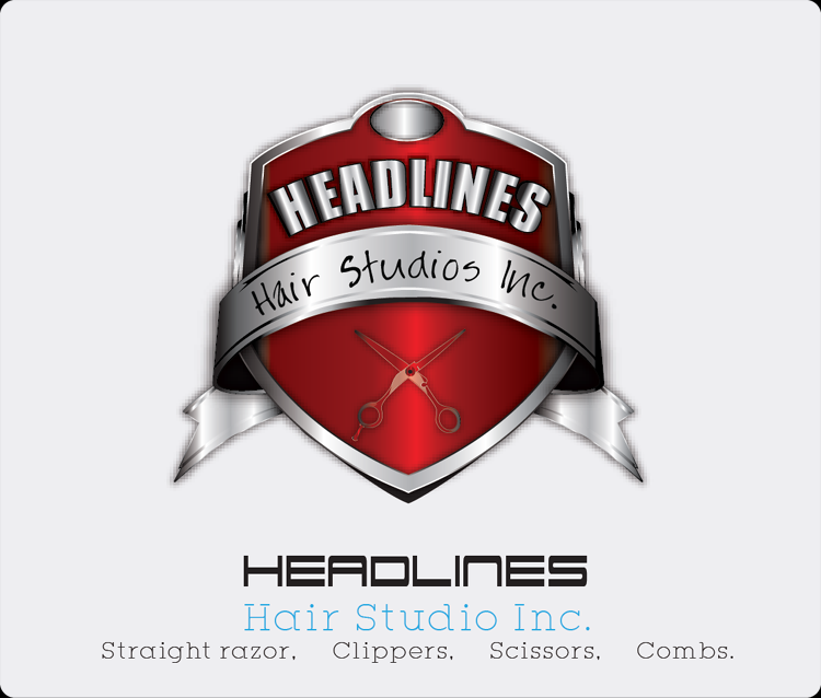 Logo Design by Md Iftekharul Islam Pavel - Entry No. 78 in the Logo Design Contest Fun Logo Design for HEADLINES HAIR STUDIO INC.