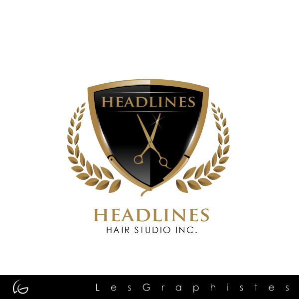 Logo Design by Les-Graphistes - Entry No. 80 in the Logo Design Contest Fun Logo Design for HEADLINES HAIR STUDIO INC.
