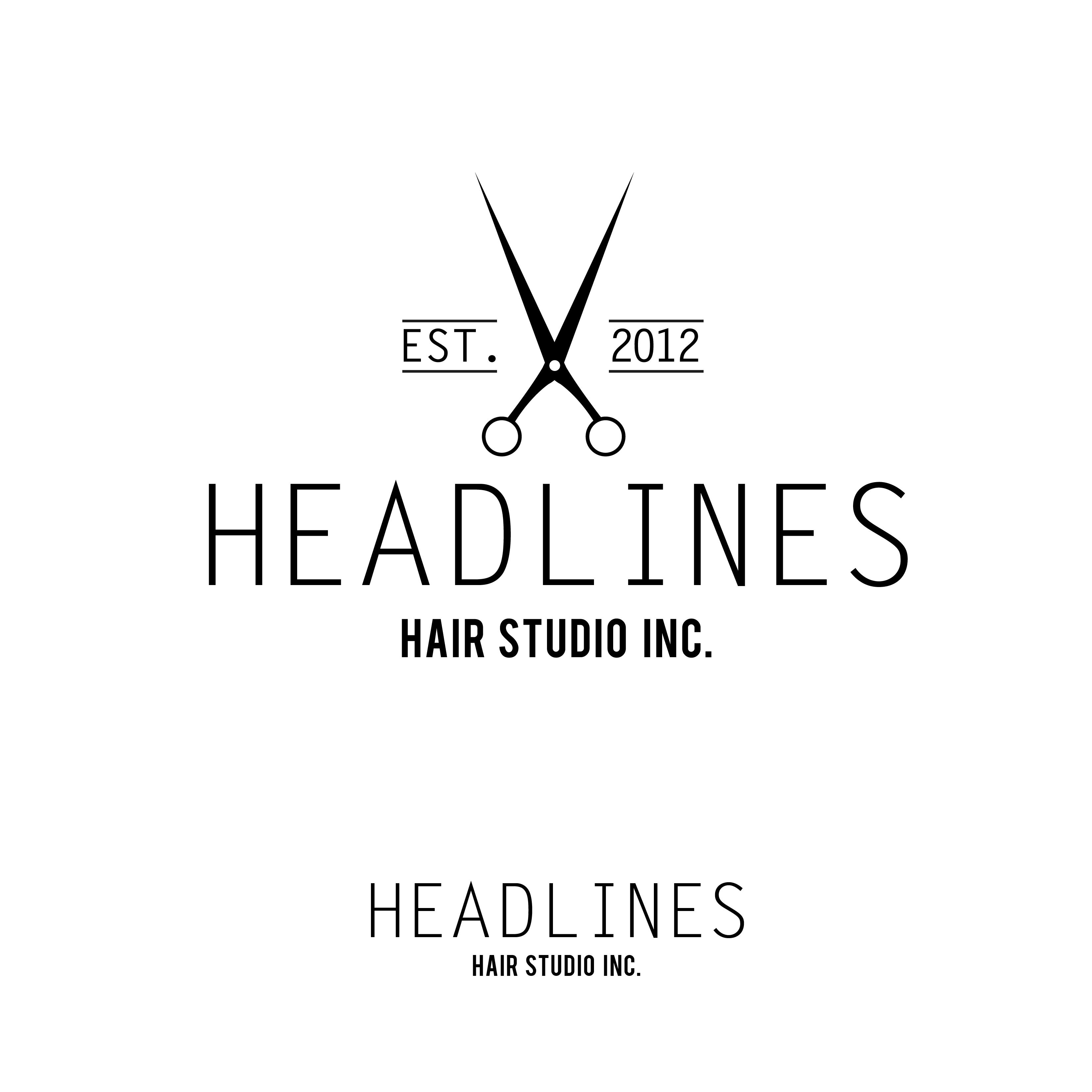 Logo Design by jasonbrycehardesty - Entry No. 86 in the Logo Design Contest Fun Logo Design for HEADLINES HAIR STUDIO INC.