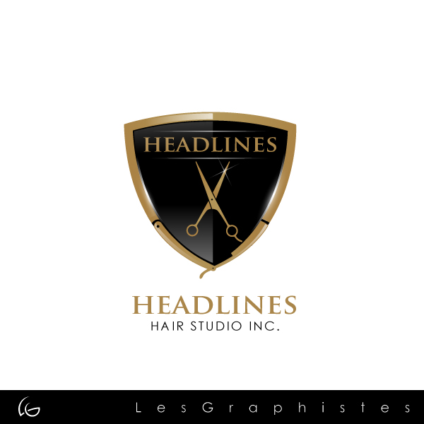 Logo Design by Les-Graphistes - Entry No. 89 in the Logo Design Contest Fun Logo Design for HEADLINES HAIR STUDIO INC.