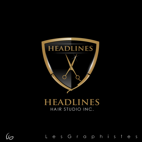 Logo Design by Les-Graphistes - Entry No. 91 in the Logo Design Contest Fun Logo Design for HEADLINES HAIR STUDIO INC.