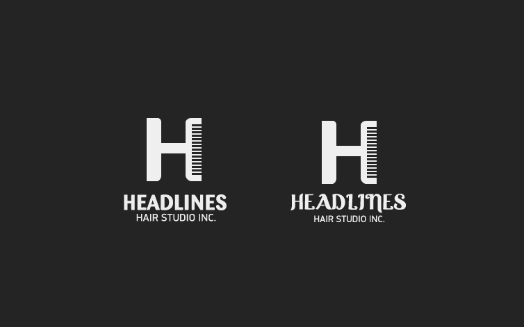 Logo Design by dotart - Entry No. 93 in the Logo Design Contest Fun Logo Design for HEADLINES HAIR STUDIO INC.