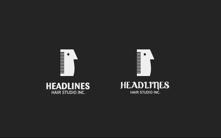 Logo Design by dotart - Entry No. 94 in the Logo Design Contest Fun Logo Design for HEADLINES HAIR STUDIO INC.