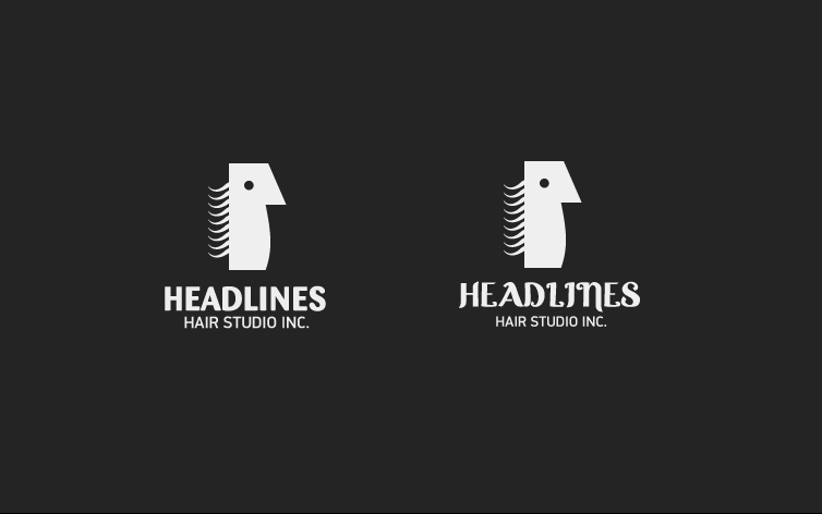 Logo Design by dotart - Entry No. 95 in the Logo Design Contest Fun Logo Design for HEADLINES HAIR STUDIO INC.