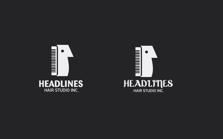 Logo Design by dotart - Entry No. 96 in the Logo Design Contest Fun Logo Design for HEADLINES HAIR STUDIO INC.