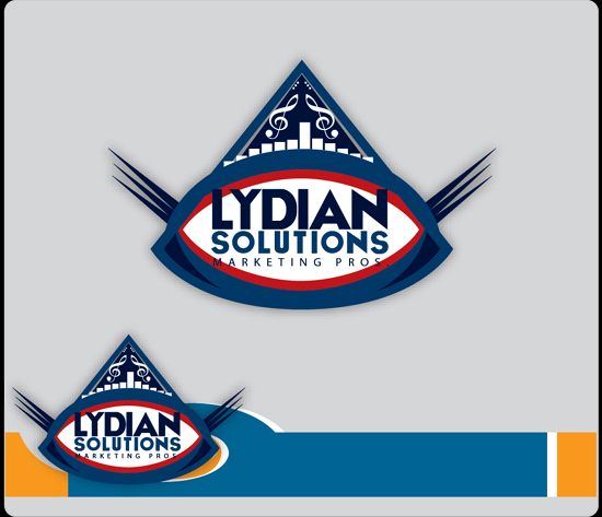 Logo Design by Md Iftekharul Islam Pavel - Entry No. 47 in the Logo Design Contest Fun Logo Design for Lydian Solutions.