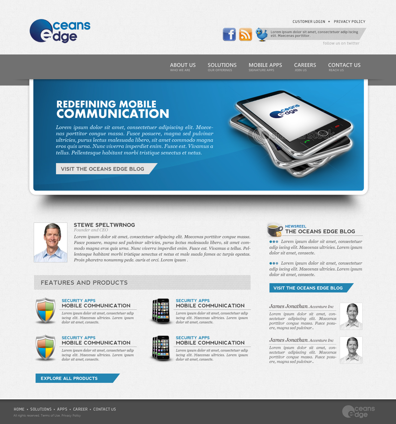 Web Page Design by speltwrnog - Entry No. 16 in the Web Page Design Contest Web Page Design Needed for Company Oceans Edge Inc!.