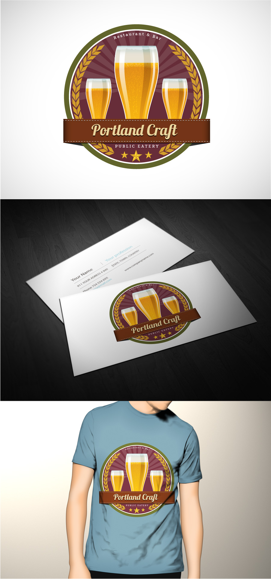 Logo Design by Jaspreet Nagi - Entry No. 4 in the Logo Design Contest New Logo Design for Portland Craft Public Eatery.
