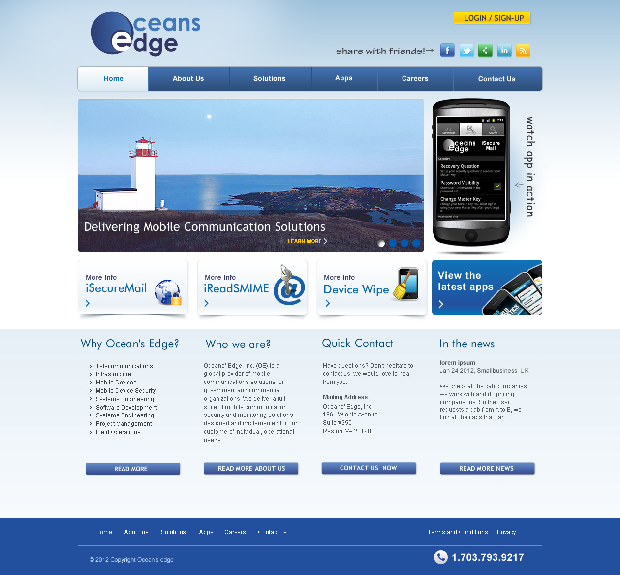 Web Page Design by smartinfo - Entry No. 21 in the Web Page Design Contest Web Page Design Needed for Company Oceans Edge Inc!.