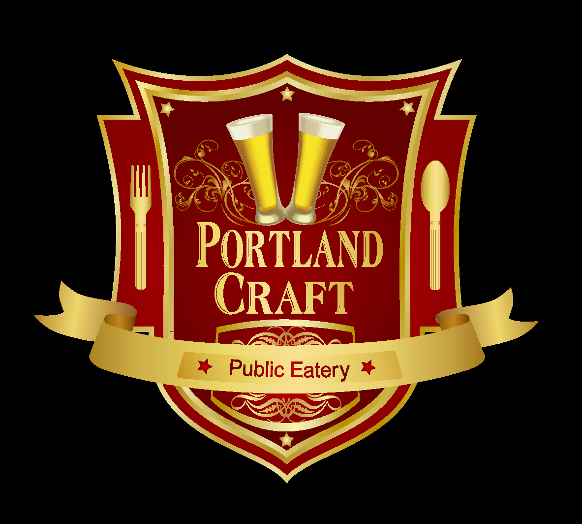 Logo Design by innocentangel707 - Entry No. 6 in the Logo Design Contest New Logo Design for Portland Craft Public Eatery.