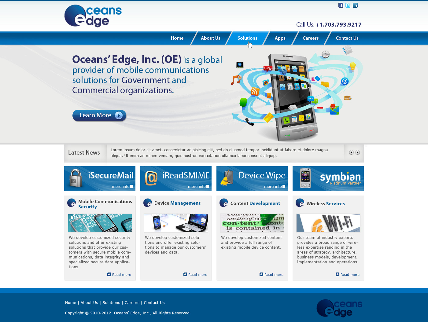 Web Page Design by Private User - Entry No. 29 in the Web Page Design Contest Web Page Design Needed for Company Oceans Edge Inc!.