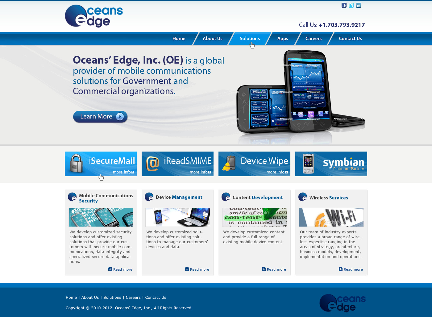 Web Page Design by Private User - Entry No. 30 in the Web Page Design Contest Web Page Design Needed for Company Oceans Edge Inc!.