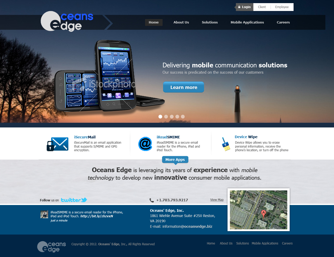 Web page design needed for company oceans edge inc for Web page architecture