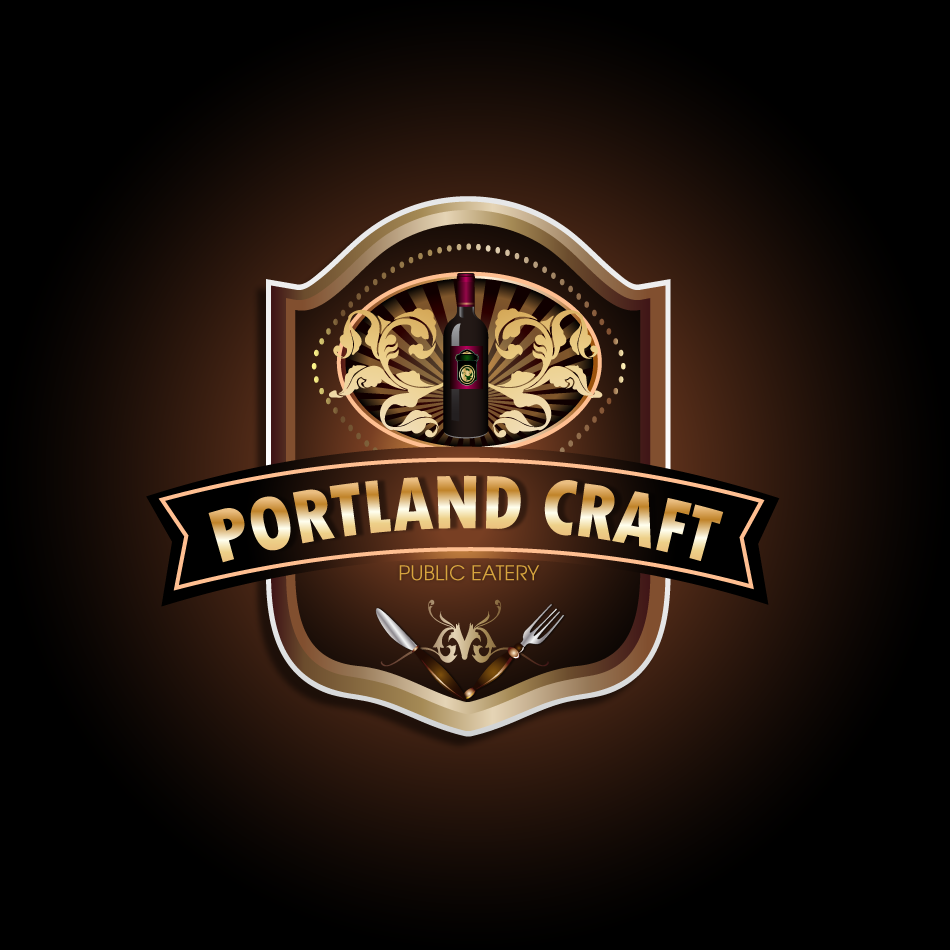 Logo Design by moonflower - Entry No. 11 in the Logo Design Contest New Logo Design for Portland Craft Public Eatery.