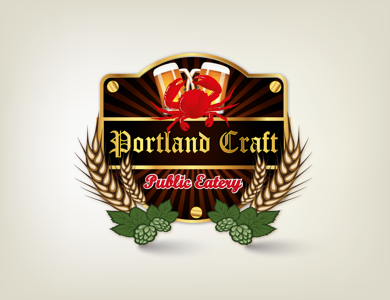 Logo Design by luwabu - Entry No. 12 in the Logo Design Contest New Logo Design for Portland Craft Public Eatery.