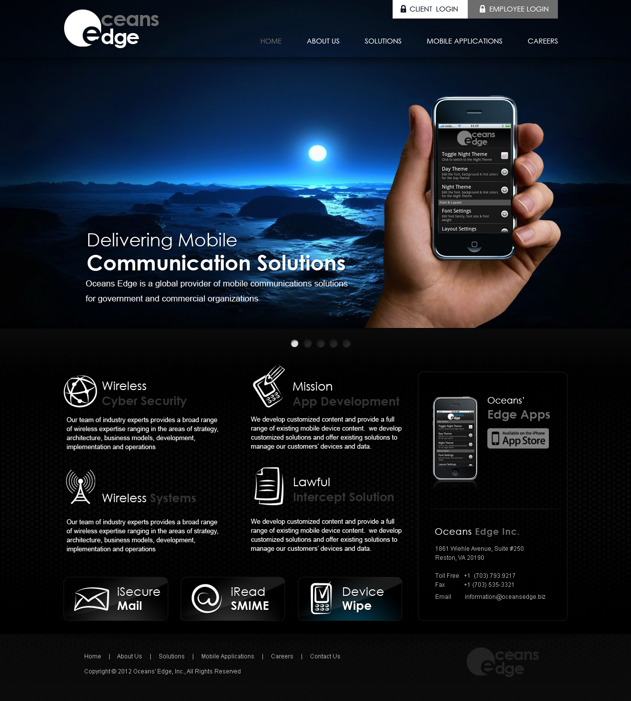 Web Page Design by Emad A Zyed - Entry No. 52 in the Web Page Design Contest Web Page Design Needed for Company Oceans Edge Inc!.