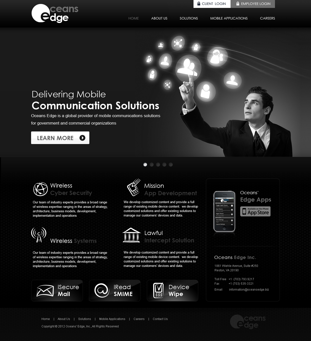 Web Page Design by Emad A Zyed - Entry No. 55 in the Web Page Design Contest Web Page Design Needed for Company Oceans Edge Inc!.