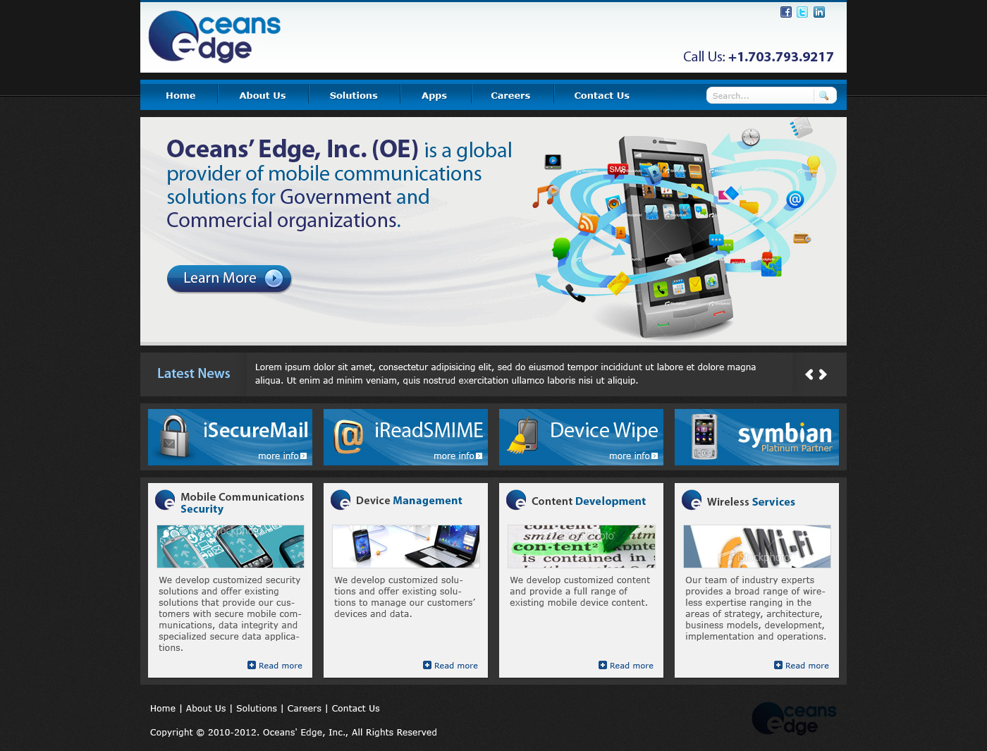 Web Page Design by Private User - Entry No. 57 in the Web Page Design Contest Web Page Design Needed for Company Oceans Edge Inc!.