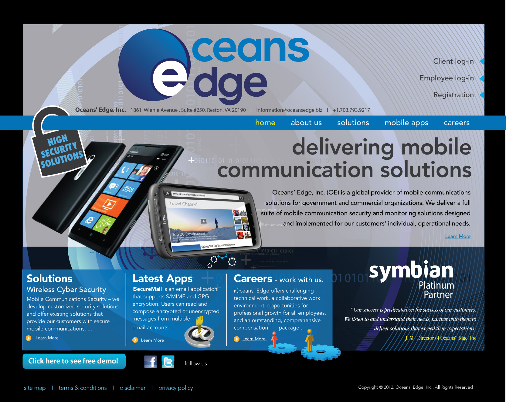 Web Page Design by geisha - Entry No. 60 in the Web Page Design Contest Web Page Design Needed for Company Oceans Edge Inc!.