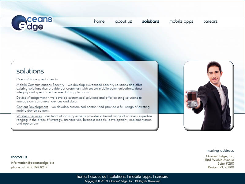 Web Page Design by Ilse Beirens - Entry No. 74 in the Web Page Design Contest Web Page Design Needed for Company Oceans Edge Inc!.