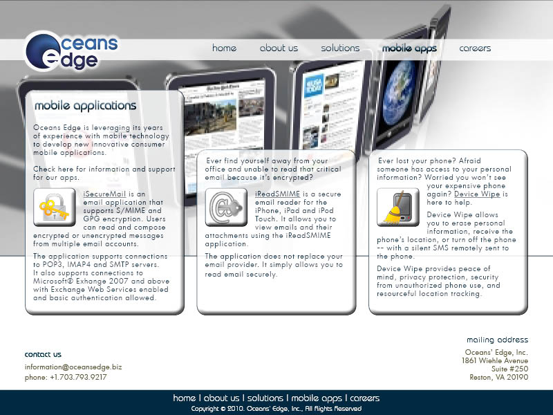 Web Page Design by Ilse Beirens - Entry No. 75 in the Web Page Design Contest Web Page Design Needed for Company Oceans Edge Inc!.