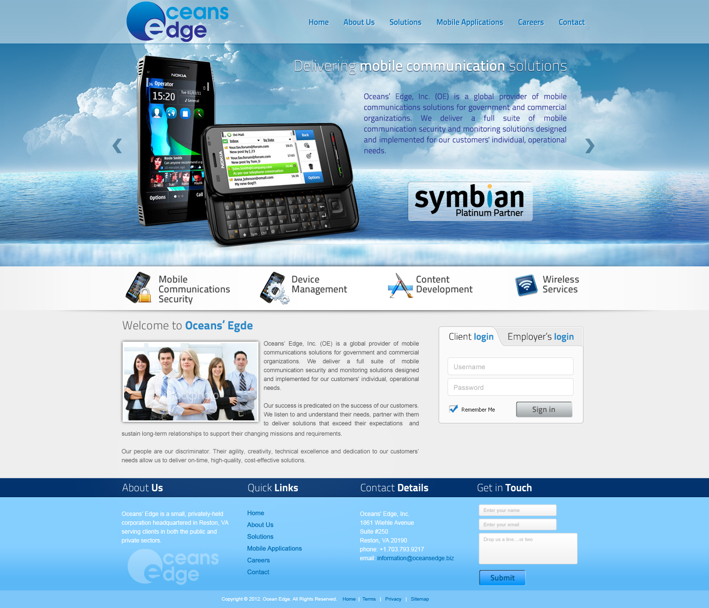 Web Page Design by Vladimir Koncos - Entry No. 78 in the Web Page Design Contest Web Page Design Needed for Company Oceans Edge Inc!.