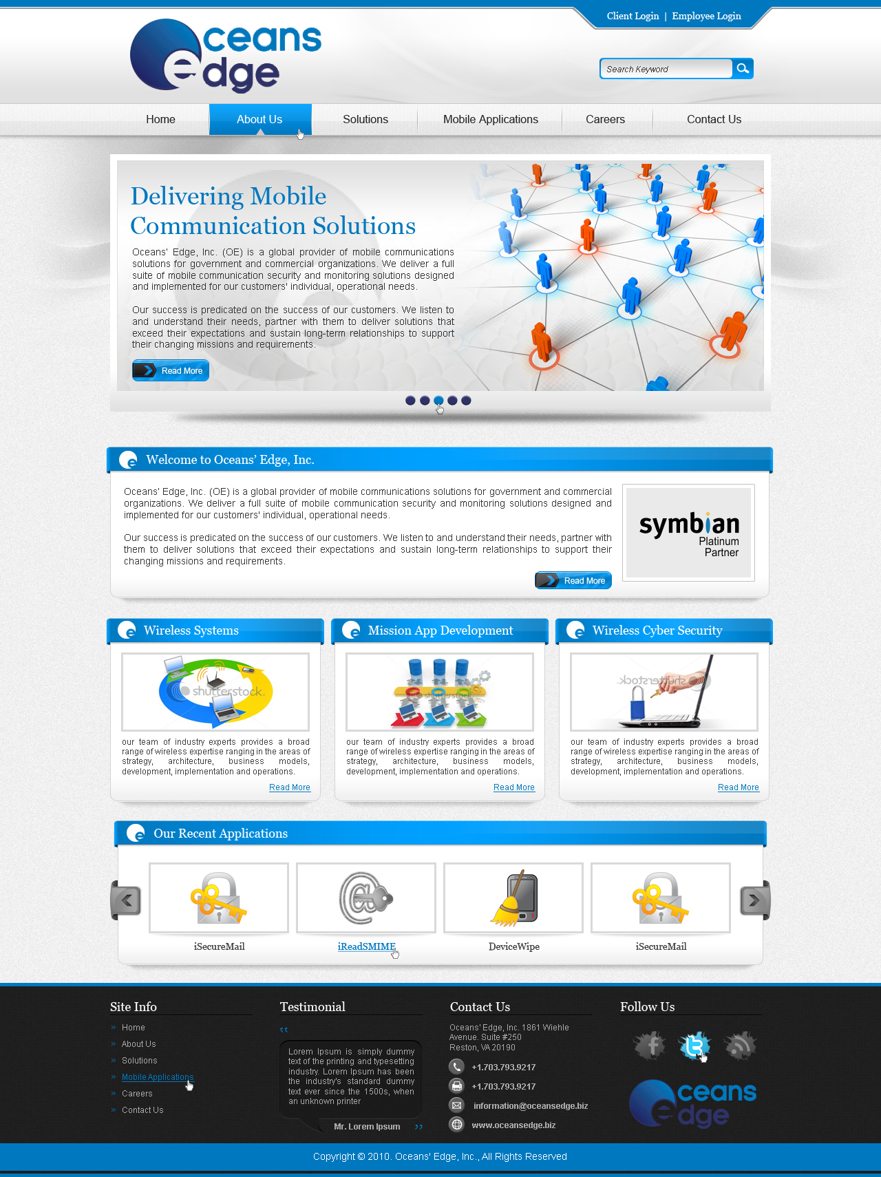 Web Page Design by fluxiz - Entry No. 79 in the Web Page Design Contest Web Page Design Needed for Company Oceans Edge Inc!.