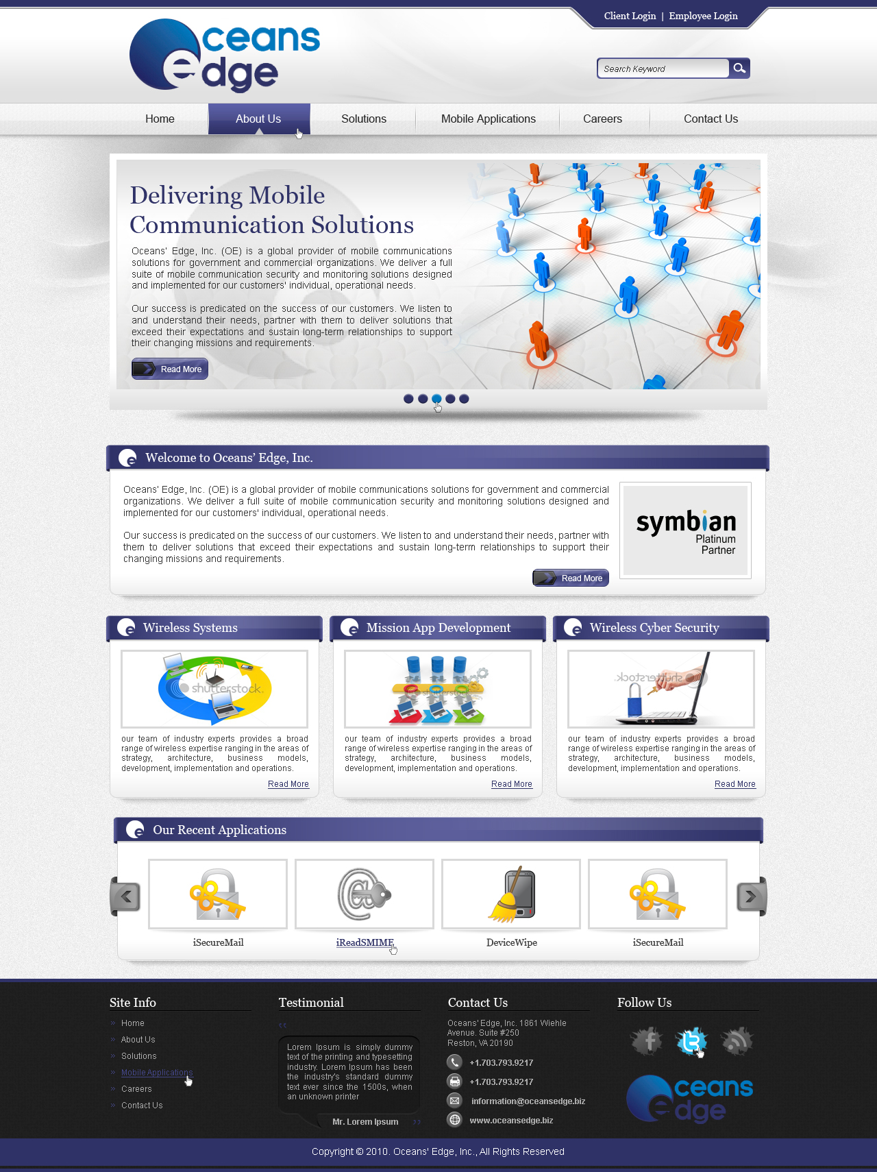 Web Page Design by fluxiz - Entry No. 80 in the Web Page Design Contest Web Page Design Needed for Company Oceans Edge Inc!.