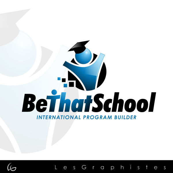 "Logo Design by Les-Graphistes - Entry No. 19 in the Logo Design Contest Fun Logo Design for ""Be That School""."