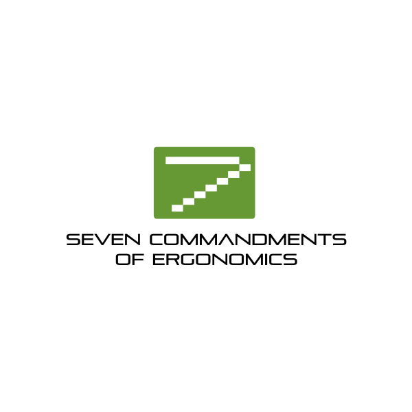 Logo Design by Rudy - Entry No. 2 in the Logo Design Contest Logo Design for Seven Commandments of Ergonomics.