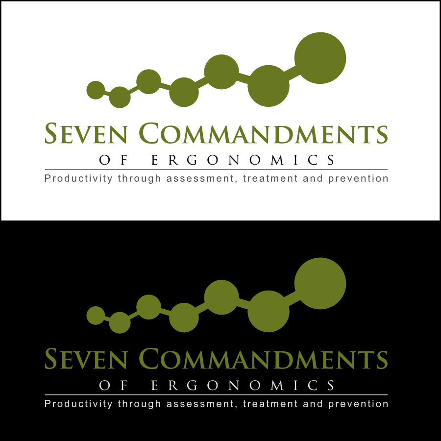 Logo Design by Dee - Entry No. 4 in the Logo Design Contest Logo Design for Seven Commandments of Ergonomics.